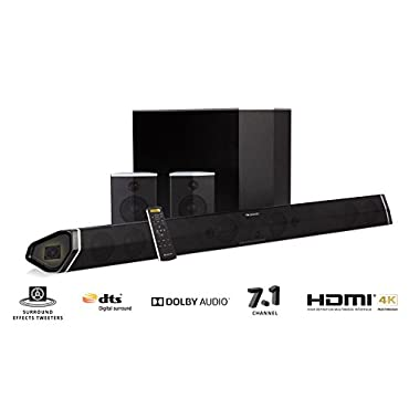 Nakamichi Shockwafe Pro 7.1-Channel 400W 45 Sound Bar with 8 Wireless Subwoofer & Rear Satellite Speakers