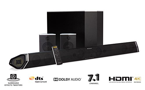 "Nakamichi Shockwafe Pro 7.1Ch 400W 45' Sound Bar with 8"" Wireless Subwoofer & Rear Satellite Speakers"