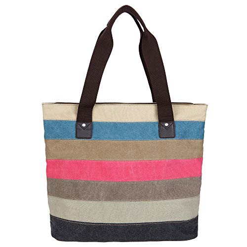 Large Shoulder Bag Handbag Satchel Tote Colored Vintage mpk Shopping Women's Ladies Canvas Multicolour Bags Vcun8051 Hobo Ff4xqvw0