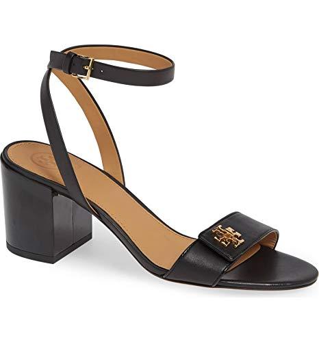 Tory Burch Women's Kira Black Leather Black Sandal Shoes Heels (7.5 M US)