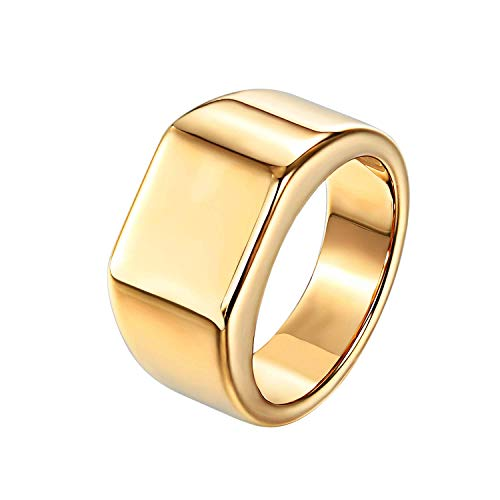 Milo Bruno - Tungsten Square Signet Ring (Gold) - 9