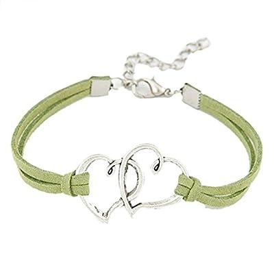 Clearance Bracelets Missyy Women Love Heart Handmade Alloy Rope Charm Jewelry Weave Bracelet Gift