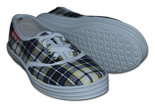 Red Tag , Jungen Sneaker, Mehrfarbig - Yellow/Navy - Größe: 12 UK