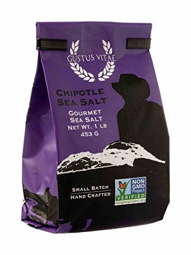 Chipotle Sea Salt | Non GMO Verified | All Natural | Bulk Seasoning | 1LB by Gustus Vitae