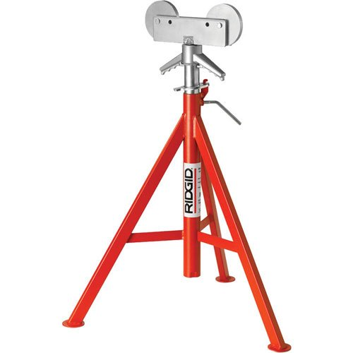 Ridgid 56667 RJ-98 Roller Head Low Pipe Stand 23-Inch-41-Inch Height Adjustment by Ridgid