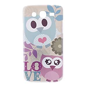AES - Matte Style Love Cartoon Design Owl Pattern Durable Hard Case for Samsung Galaxy Mega 5.8 I9150