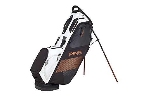Ping 2018 Hoofer Carry Stand Golf Bag, Black/White/Canyon Copper