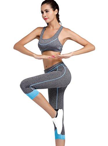 Cody Lundin Grey Ejercicio De Ejercicio Deportivo Bras Correr-Jogging Yoga Bars Chaleco de la Mujer Color-a
