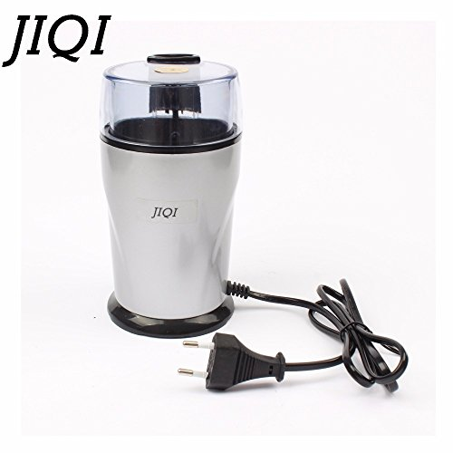 JIQI Electric Coffee grinder ELECTRICAL COFFEE herbs mill beans nuts grinding machine stainless steel blades Euro plug (110V) by JIQI
