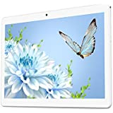 YELLYOUTH Android Tablet 10 inch with Dual Sim Card Slots 10.1 IPS MTK Octa Core 4GB RAM 64GB ROM WiFi Bluetooth GPS 3G Unlocked Phone Tablet PC (Silver)