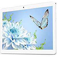 YELLYOUTH Android Tablet 10 inch with Dual Sim Card Slots 10.1' IPS MTK Octa Core 4GB RAM 64GB ROM WiFi Bluetooth GPS 3G Unlocked Phone Tablet PC (Silver)