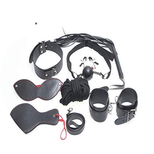 Cat Tail Play 8pcs Black PU Leather Game Toy Toys Women&Couples Fetish Bondage Er,Double Vibradors Women Vibrador Wireless