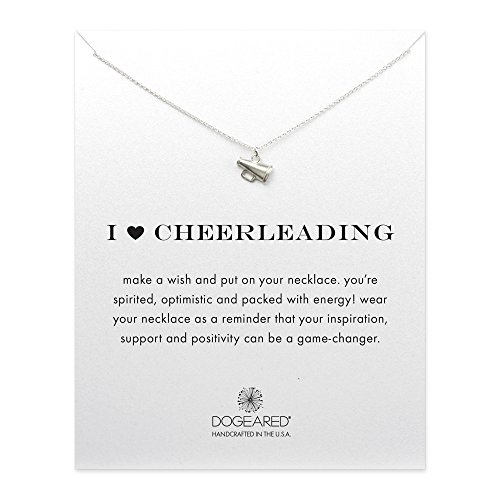 dogeared sterling silver i cheerleading