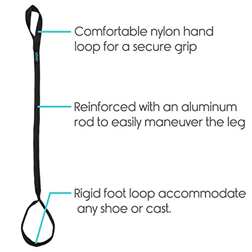 Vive Leg Lifter Strap Rigid Foot Loop Amp Hand Grip For