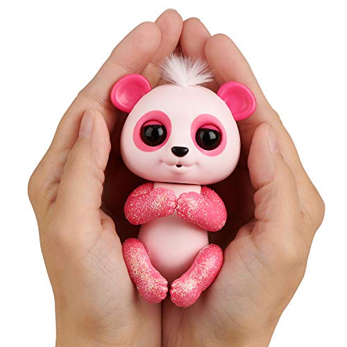 WowWee Fingerlings Glitter Panda - Polly - Interactive Collectible Baby Pet, Pink by WowWee (Image #2)