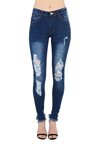 Indigo 34 Real Butterfly Multicoloured Blue HOXTON Femme Jeans qqCwYAI