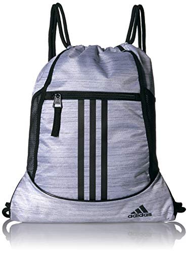 - adidas Alliance II Sackpack, White Two Tone/Black, One Size