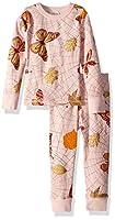 Masala Kids Girls' Little Organic PJs L/S Spiderweb Powder Pink, 3 Years