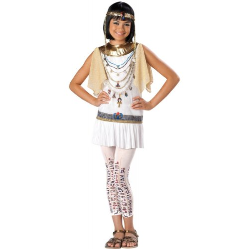 White Greek Drapes - InCharacter Costumes Girl's Cleo Cutie Cleopatra Costume, White/Gold, Large
