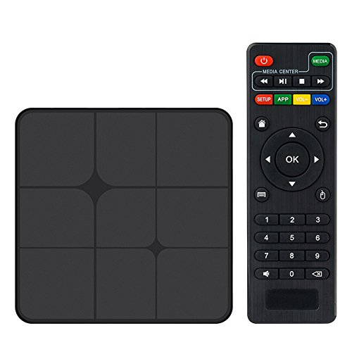 Walmeck Smart Android TV Box,T96 Marx,Android 7.1 RK3229 Quad Core UHD 4K VP9 H.265 1GB/8GB DLNA AirPlay WiFi LAN HD Media Player US Plug
