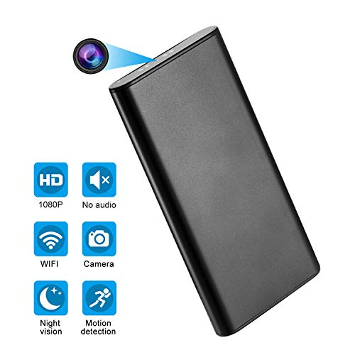 AMCSXH HD 1080P 10000mAh WiFi Hidden Power Bank Camera Wireless Motion Detection, Spy Power Bank Camera,Night Vision, Security Surveillance Camera Nanny Cam, Security for Home and Office, Video Only