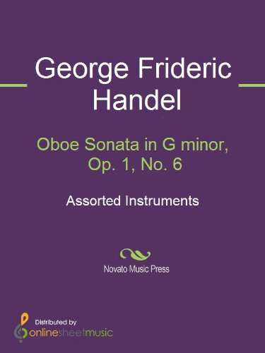 Oboe Sonata In G Minor Op 1 No 6 Kindle Edition By George