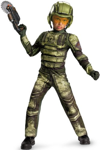 Operation Rapid Strike Red Sector Foot Soldier Classic Muscle Boys Costume, 7-8