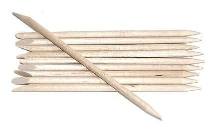 50x nail art design arancione bastone di legno di rimozione della cuticola pusher cura manicure Boolavard® TM