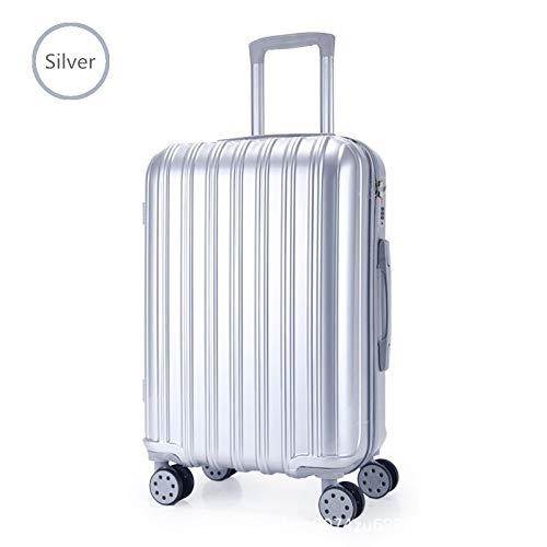 Absトロリーケースユニバーサルホイール学生スーツケース男性パスワードボックス女性スーツケース荷物 22 シルバー B07PT8D7ZM