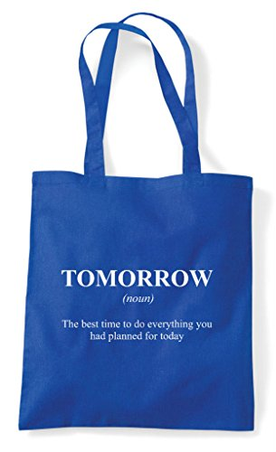 Definition Blue Dictionary Not In Funny Tote Tomorrow Alternative Royal Bag Shopper The qdTU6WCP