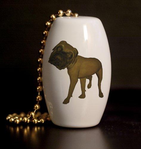 Megga Noggin Mastiff Porcelain Fan / Light Pull