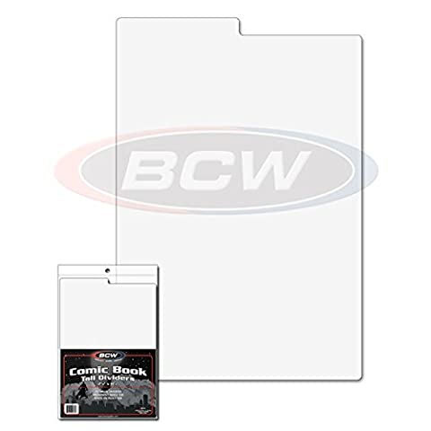 10 NEW BCW Tall Comic Book Dividers