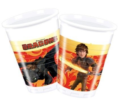 200ml How To Train Your Dragon Plastic Cups, Pack of 8