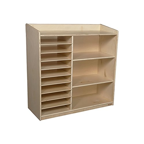 Wood Designs Kids Play Toy Book Plywood Organizer Wd15139 Sensorial Discover Shelving Without Trays by Wood Designs