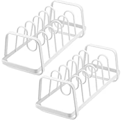 Kitchen Slideep Pot Lid Holders, Cutboard Pan Bakeware Cookware Organizer Rack for Kitchen, Pantry, Cabinet, Storage Rack with 7… pot lid holders