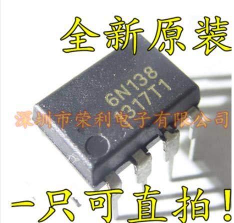 Calvas 10pcs/lot High Speed Optocouplers DIP 6N138 A6N138 DIP8 new original