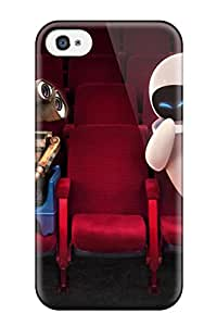 New Snap-on Dennis Riffle Skin Case Cover Compatible With Iphone 4/4s- Wall E And Eve In Theater