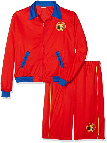 [Baywatch Beach Men's Lifeguard Costume (Medium)] (Color Guard Costumes Rental)