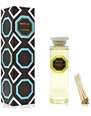 HOUZZ Interior Reed Diffuser Refill Oil Lemongrass & Ginger – Reed Sticks Included – Lemongrass, Eucalyptus, Ginger, Thyme, Cedarwood & Sage – No Sulfates or Parabens – All Natural – Made in The USA
