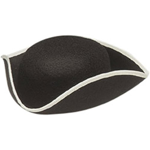 Adult Pirate Tricorn Costume Hat (Size: Medium) ()