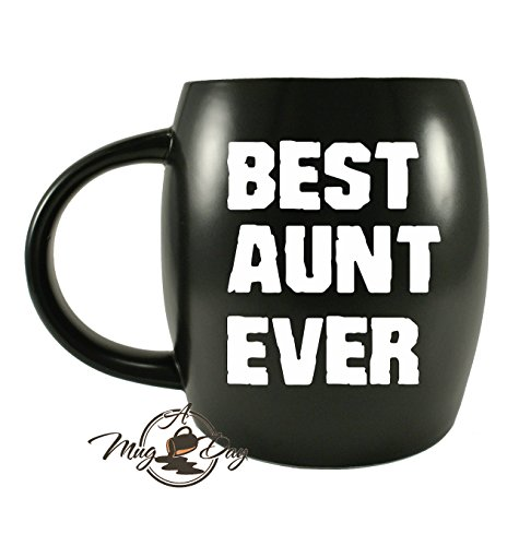 Mug A Day - Mothers Day Novelty Gifts for World's Best Aunt Ever Funny Gifts for Greatest Auntie Gag Gift Ceramic Coffee Mug Tea Cup for Birthdays or Christmas - Perfect Travel Or Camping Mug