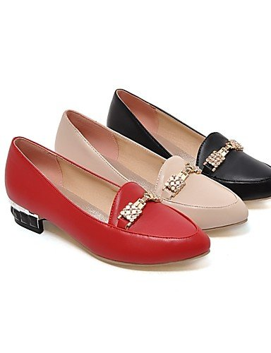 mujer Zapatos 5 uk8 red Negro y Puntiagudos cn43 Trabajo eu42 5 Tacón Rojo us10 cn43 eu42 Casual 5 5 de us10 PU 5 cn37 5 Oficina Robusto Tacones red uk8 uk4 GGX eu37 5 7 Tacones Beige us6 beige EpfdqwE
