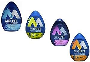 Mio Liquid Water Enhancer Fit Variety Pack (Lemon Lime, Berry Blast, Arctic Grape, Orange) - Pack of 4