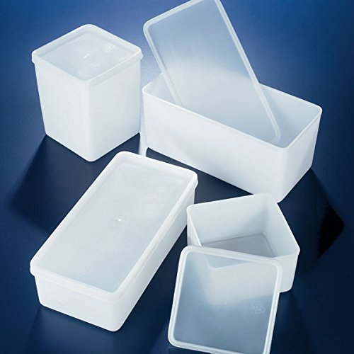 - Globe Scientific Box, airtight, 500mL, HDPE, 4 x 4 x 2.5