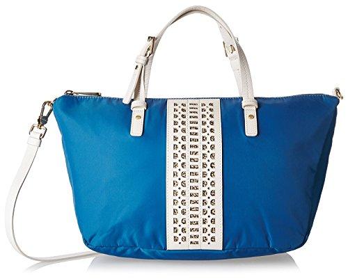 BORBONESE Bag Hand Strap 922Sand Walk Blue/White