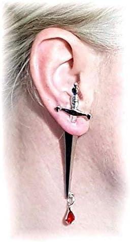 boucle d'oreille poignard