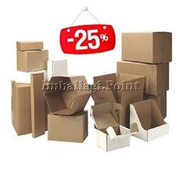 50 piezas cajas de cartón embalaje envío 43 x 30,5 x 18 cm fustellata Avana: Amazon.es: Bricolaje y herramientas
