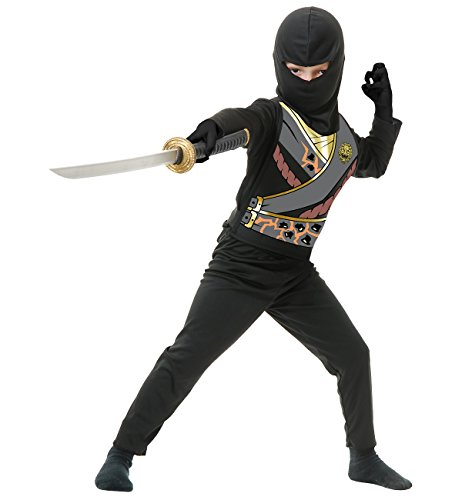Charades Child's Ninja Avenger Series 4 Costume, Black, Medium ()