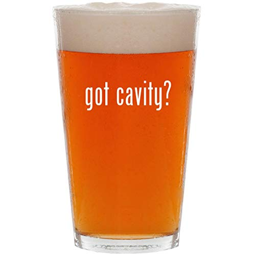 got cavity? - 16oz All Purpose Pint Beer Glass
