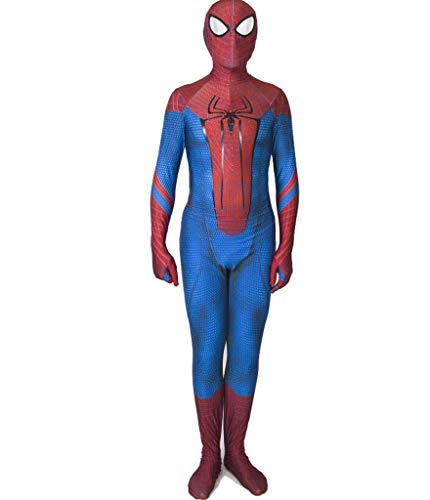 APPSS Amazing Spider-Man Cosplay Costume Fancy Dress Party Siamese Tights Character Film Performance Costume (Color : Blue, Size : XL) -